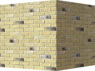 "320-35 White Hills ""Кельн брик"" (Cologne brick), желтый, угловой, Нормативная ширина шва 1,2 см."