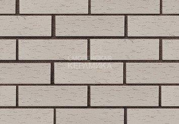 Клинкер фасадный ЛСР «Стокгольм» серый береста 1