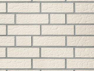Клинкерная плитка фасадная Röben ISLAND Белый перламутровый рифленая NF9