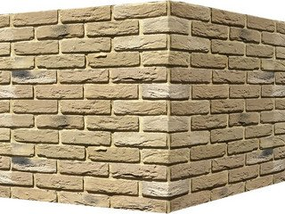 "305-25 White Hills ""Бремен брик"" (Bremen brick), песочный, угловой, Нормативная ширина шва 1,2 см."