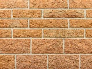 Клинкерная плитка фасадная--- Рваный камень Мини разноцвет прямая Терракот Рядовая 70x240 толщина