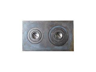 Плита чугунная 2-конф. П2-5, 455х760, большая (Балезино)