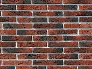 "380-70 White Hills ""Остия Брик"" (Ostia Brick), красный, плоскостной, Нормативная ширина шва 1,2 см."
