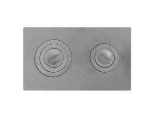 Плита чугунная 2-конф. П2-3, 410х710 (А),