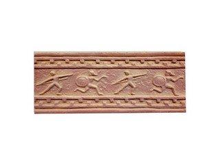 Клинкерная плитка фасадная--- Элемент декоративный Олимпия Макси Терракот Рядовая 123x263 толщина