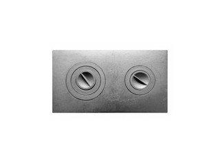Плита чугунная 2-конф. П2-3, 710х410 (Балезино)