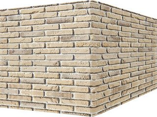 "335-15 White Hills ""Йорк брик"" (York brick), серый, угловой, Нормативная ширина шва 1 см."