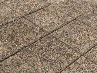 Тротуарная плитка Braer лувр гранит на сером 200х200х60
