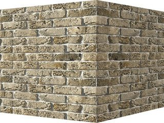 "309-15 White Hills ""Бремен брик"" (Bremen brick), б/ц, угловой, Нормативная ширина шва 1,2 см."