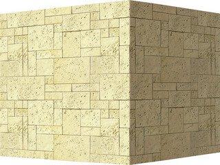 "486-15 White Hills ""Бремар (Braemar), бежево-кремовый, угловой, без шва"