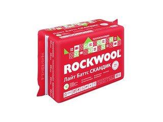 Базальтовая (каменная) вата Rockwool Лайт Батс Скандик (600x800x50) 5,76м2 0,28м3 12 шт