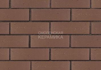 Кирпич лицевой керамический ЛСР Темно-коричневый рустик, 1НФ 3