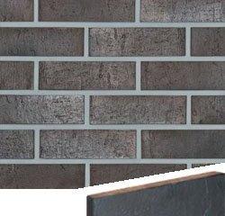Клинкерная плитка --- Sydney антрацитовый шатированный гладкая Röben Рядовая 71x240 толщина 14