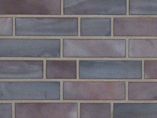 Клинкерная плитка фасадная 325 achatblue flashed Stroeher Угловая 115x240+71 толщина 11