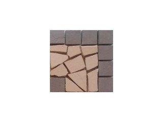 Угловая вставка мозаичная из клинкера (на сетке) Star/Звезда Ecoclinker