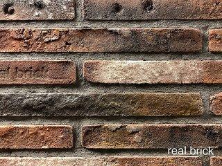 REAL BRICK. Кирпич ручной формовки RB КР/0,5ПФ РИГЕЛЬ antic RB 04 antic глина античная бордовая