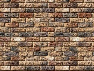 "319-40 White Hills ""Брюгге брик"" (Brugge brick), коричневый, плоскостной, Нормативная ширина шва 1,2"