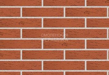Клинкер фасадный ЛСР «Лондон» красный береста 1