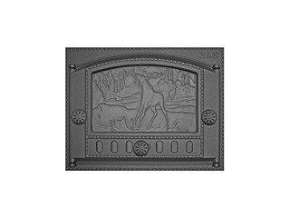 """Дверца каминная ДК-2Б (435х332х92) 375х300х40, краш. RLK 335 """"Природа"""" (Рубцовск)"""