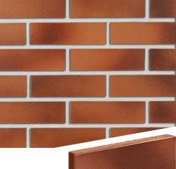 Клинкерная плитка фасадная Röben DARWIN 38 красно- коричневый гладкая NF14
