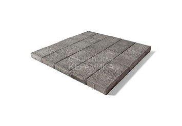 Тротуарная плитка BRAER Лувр, Гранит серый 2