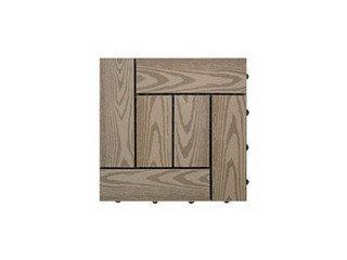 Садовый паркет CM Decking 30*30мм, серия NATUR (текстура дерева) коричневый