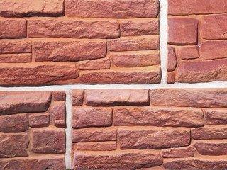Клинкерная плитка фасадная--- Тайсон Мега классик прямая Терракот Рядовая 310x150 толщина