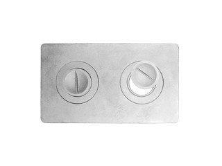 Плита чугунная 2-конф. П2-1, 340х585 МАЛАЯ (Балезино)