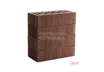Кирпич лицевой керамический ЛСР Темно-коричневый тростник, 1НФ 1
