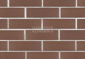 Кирпич лицевой керамический ЛСР Темно-коричневый рустик, 1НФ 2