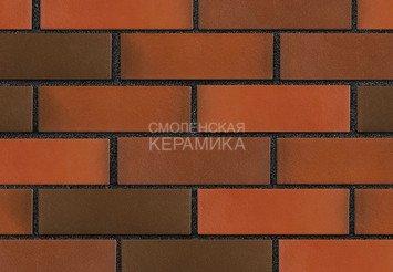 Клинкер фасадный ЛСР «Ноттингем» красный флэш гладкий 3