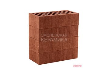 Кирпич лицевой керамический ЛСР Темно-красный тростник, 1НФ 1