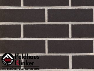 Плитка дляфасада Feldhaus Klinker R700NF14* anthracit liso