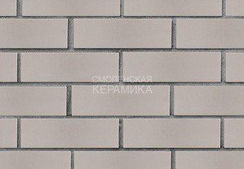 Кирпич лицевой керамический ЛСР Светло-серый гладкий, 1НФ 2