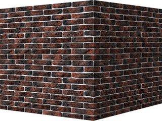 "315-75 White Hills ""Брюгге брик"" (Brugge brick), красный, угловой, Нормативная ширина шва 1,2 см."