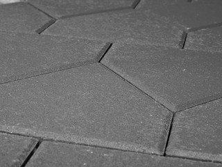 Тротуарная плитка Braer тиара серый 283х200х60