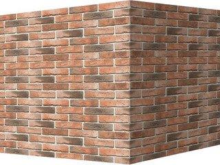 "300-55 White Hills ""Лондон брик"" (London brick), оранжевый, угловой, Нормативная ширина шва 1,2 см."