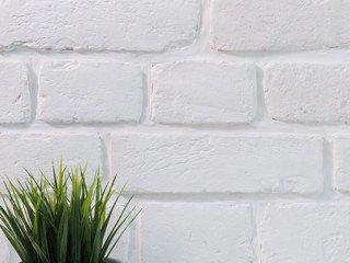Плитка кирпич White G гипс LoftStyle 12 х 7 тычок