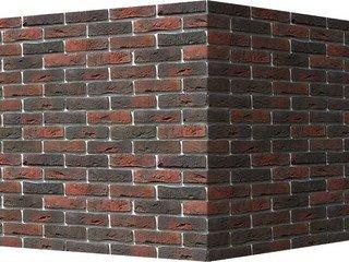 "301-45 White Hills ""Лондон брик"" (London brick), темно-коричневый, угловой, Нормативная ширина шва 1"