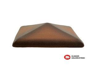 Колпак для забора ZG Clinker клинкерный керамический 425х425 каштановый