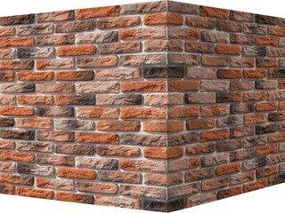 "316-55 White Hills ""Брюгге брик"" (Brugge brick), темно-оранжевый, угловой, Нормативная ширина шва 1,"