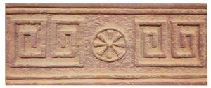 Клинкерная плитка фасадная- Элемент декоративный Эллада Макси Терракот Рядовая 123x263 толщина