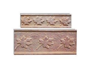 Клинкерная плитка фасадная--- Элемент декоративный Лист клена Макси Терракот Рядовая 123x263 толщина