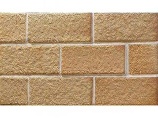 Клинкерная плитка фасадная Шамот Макси разноцвет прямая Терракот Рядовая 123x263 толщина