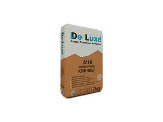 Плиточный клей De Luxe КЛИНКЕР, 25 кг