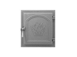 Дверца каминная Везувий 271, (350х320) 280х250, без стекла (Антрацит),