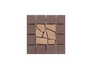Вставка мозаичная из клинкера (на сетке) Star/Звезда Ecoclinker