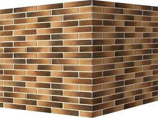 "353-45 White Hills ""Терамо брик"" (Teramo brick), темно-коричневый, угловой, Нормативная ширина шва 1"
