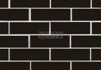 Клинкер фасадный ЛСР «Рейкьявик» черный гладкий глянцевый 2