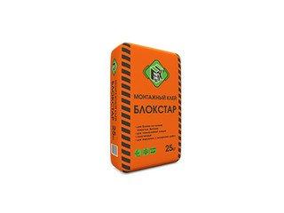 Клей монтажный для газоблока БЛОКСТАР, FIX 25 кг